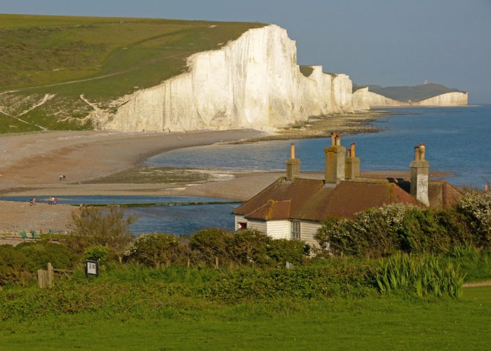 Seven Sisters, East Sussex. View from the coastguards' cottages.