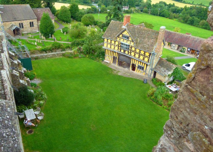 Stokesay Castle, bailey, view from tower