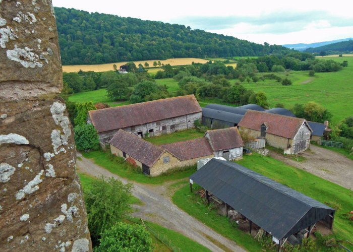 Stokesay Castle, view, south tower