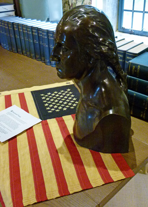 George Washington bust at Washington Old Hall, Tyne & Wear