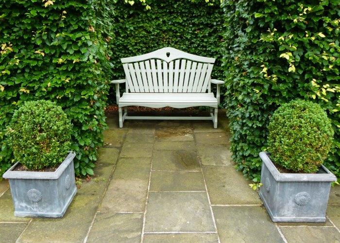 Washington Old Hall, garden bench