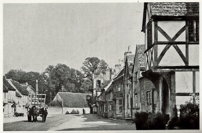 Lacock, old photograph, High Street