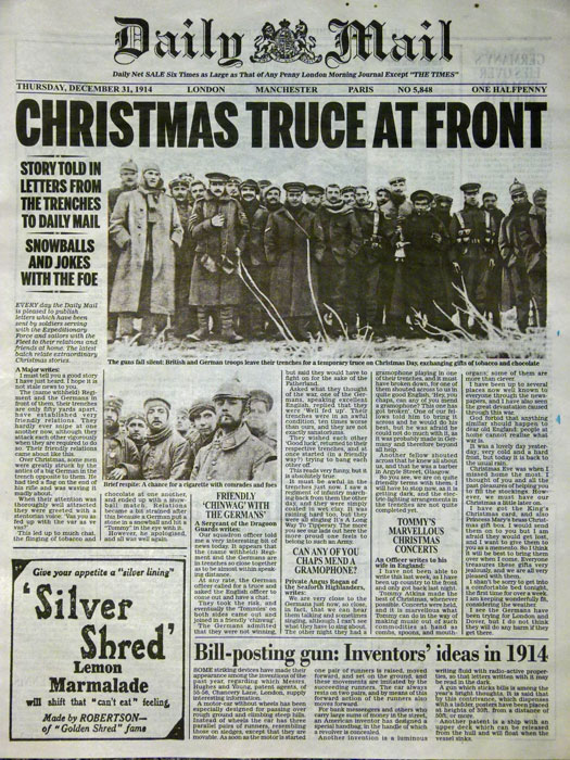 The Christmas Truce of 1914 - A Bit About Britain