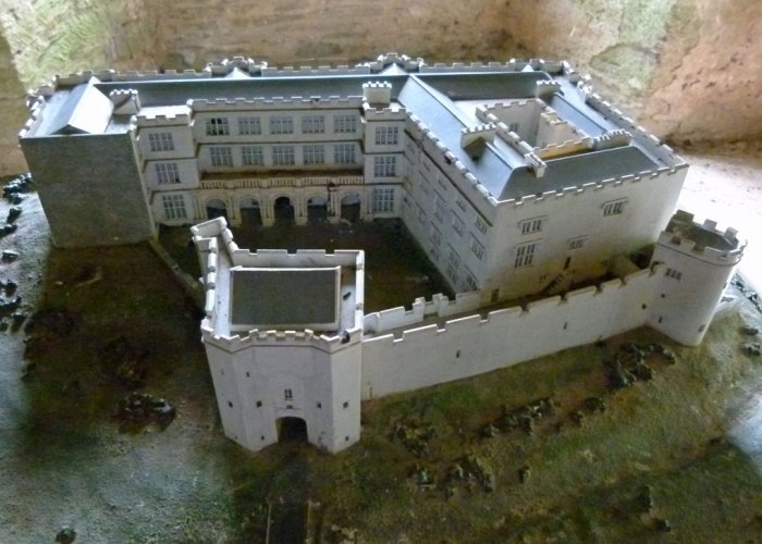 Berry Pomeroy Castle, model