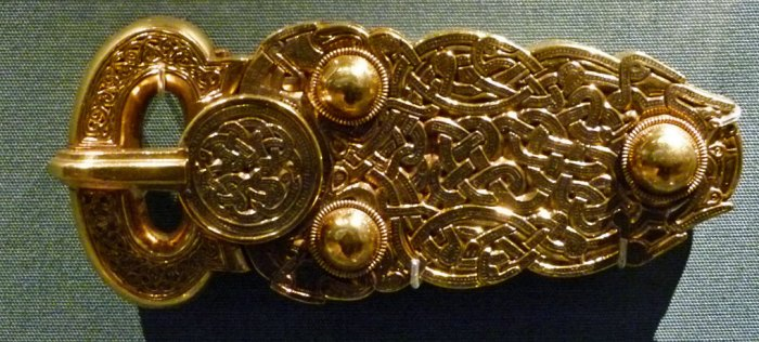 Gold buckle, Sutton Hoo, British Museum
