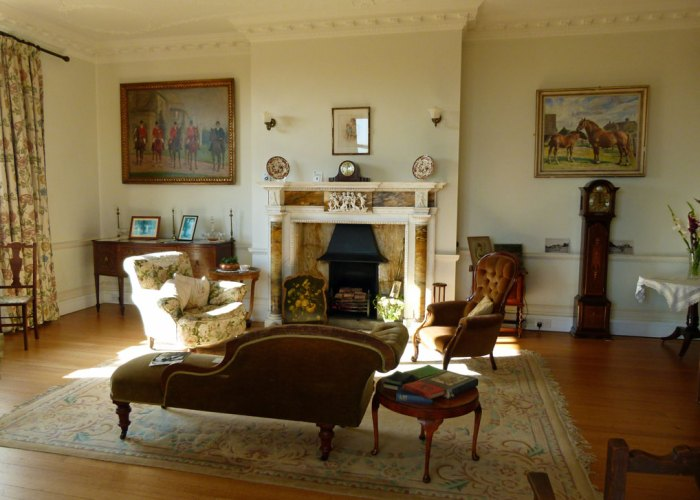 Tranmer House, drawing room, Edith Pretty