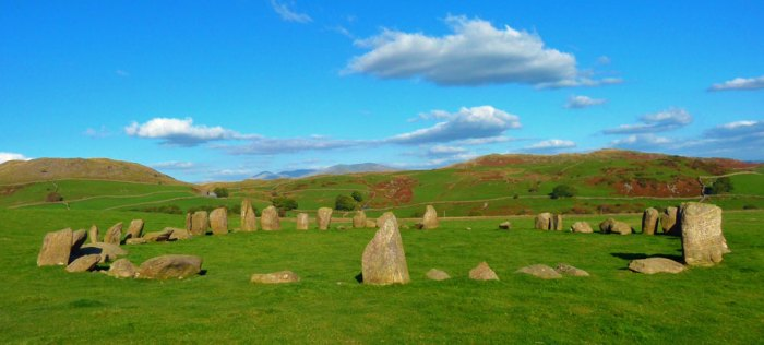 Swinside Stone Circle, Cumbria, looking east