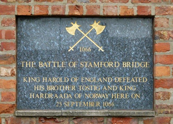BATTLE of STAMFORD BRIDGE