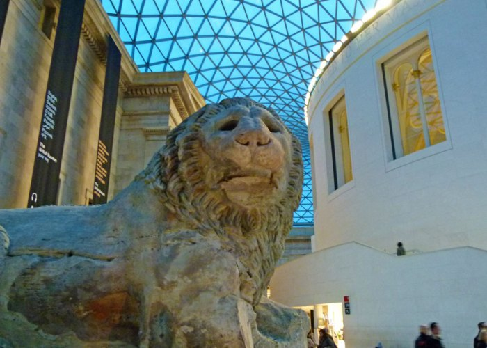 The Great Court at the British Museum; old and new juxtaposed