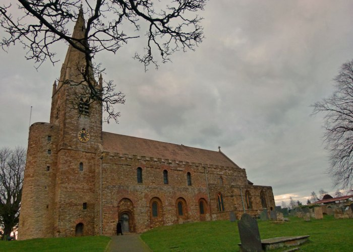 All Saints' Brixworth, Northamptonshire. The largest Anglo-Saxon church in England.