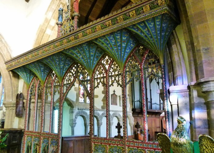 All Saints, Earls Barton, rood screen