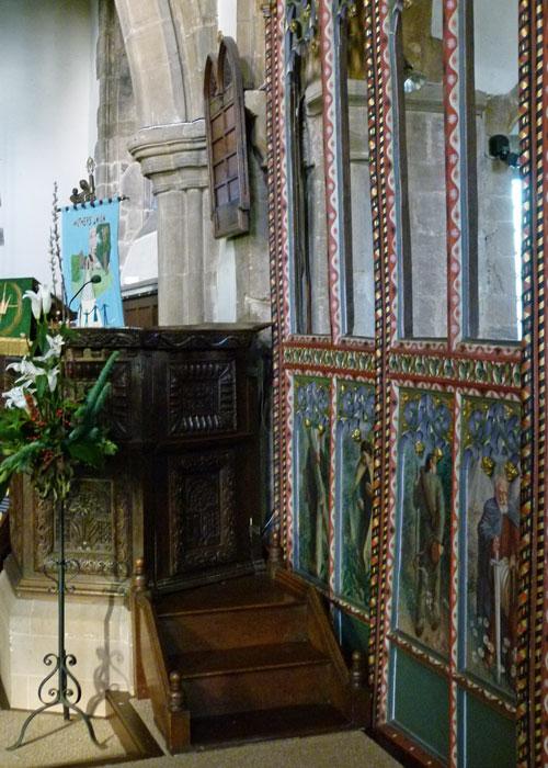 Jacobean pulpit, Earls Barton, Northamptonshire