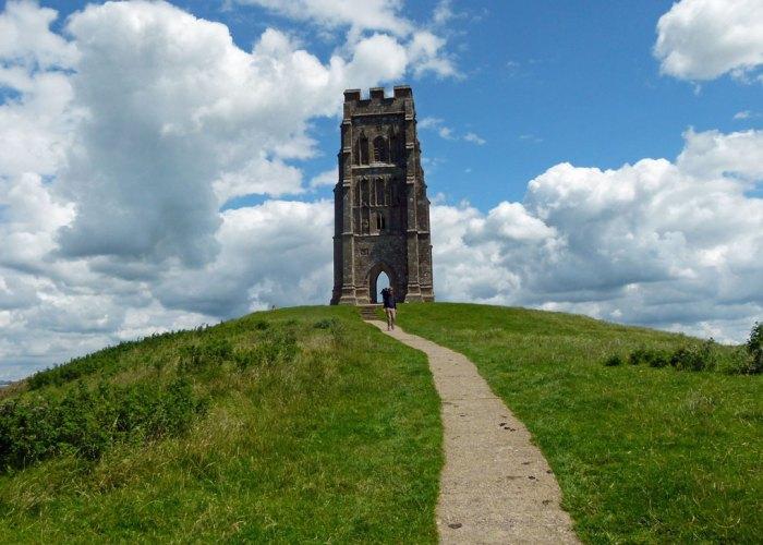 St Michael's, church, Glastonbury Tor, Somerset, legend