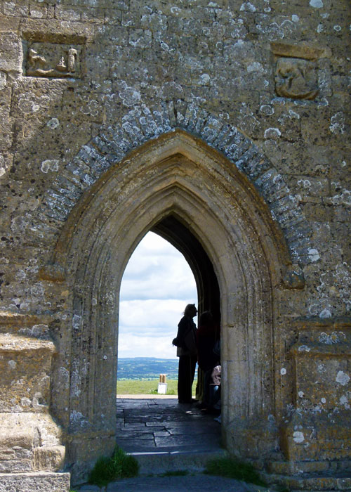 The tower of St Michael's on Glastonbury Tor