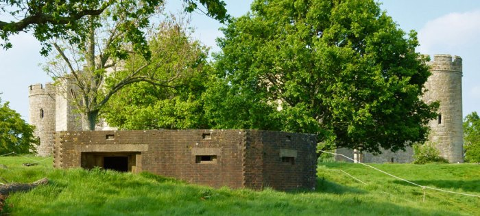 Pill-box, WW2, Bodiam, Castle, Rother, Sussex
