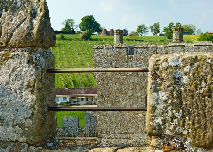 Bodiam, views, battlements