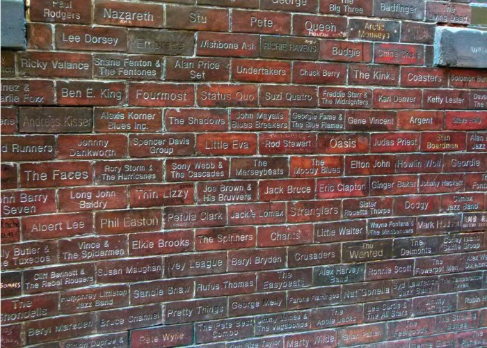 The Cavern Wall of Fame, Mathew Street, L2
