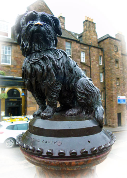 Greyfriars Bobby, memorial, Edinburgh