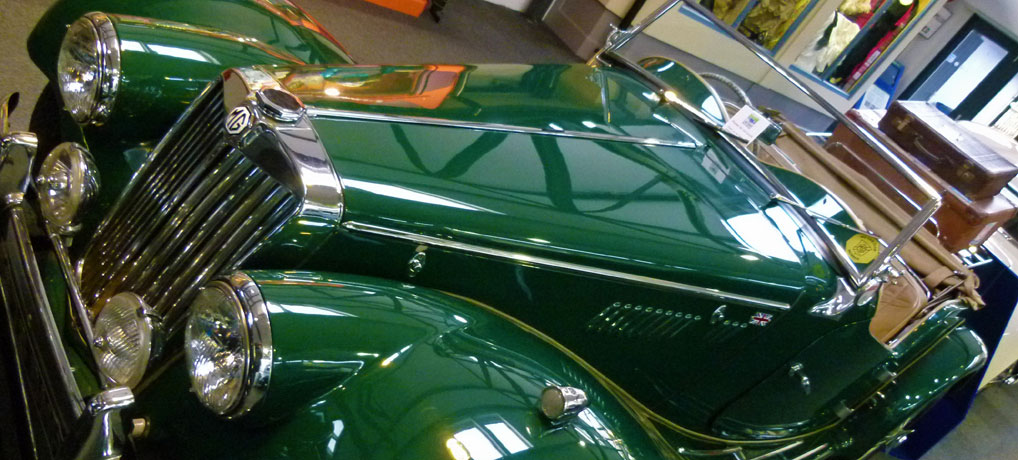 Gleaming bodies at the Lakeland Motor Museum