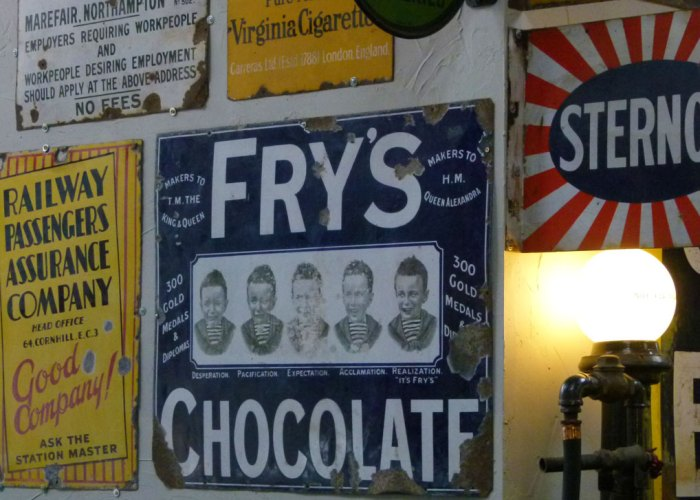Tin signs, Lakeland Motor Museum, Cumbria