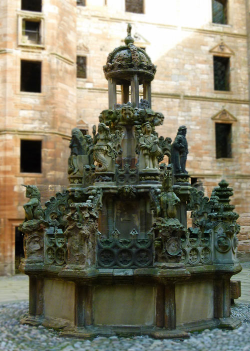 Linlithgow, palace, fountain, James V