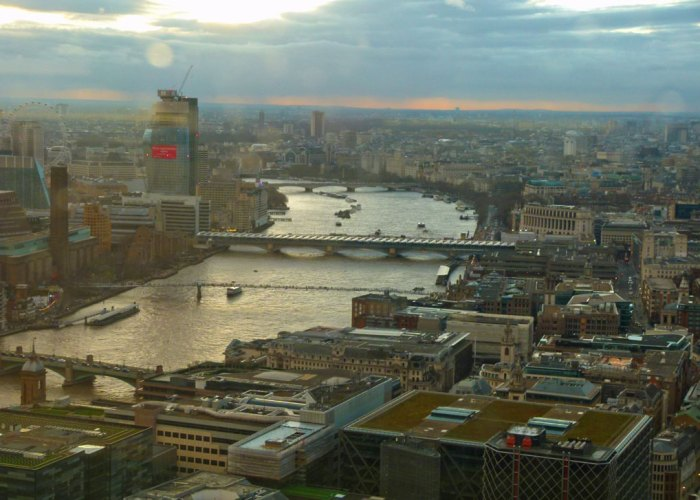 West from Sky Garden, Thames, Westminster
