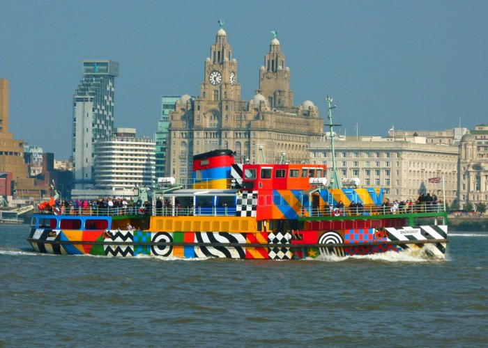 Everybody Razzle Dazzle, Sir Peter Blake, MV Snowdrop, the Mersey