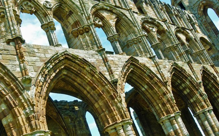 Whitby Abbey, stonework