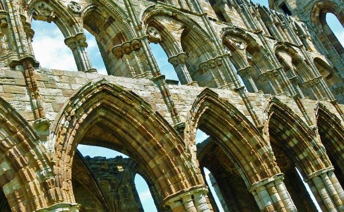 Whitby Abbey, stonework