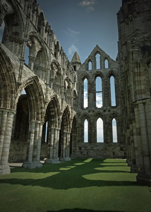 Whitby Abbey church nave