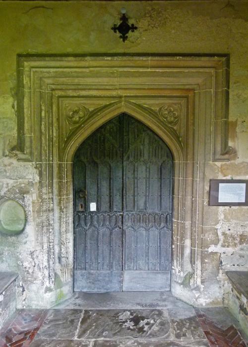 Ewelme, church, north entrance