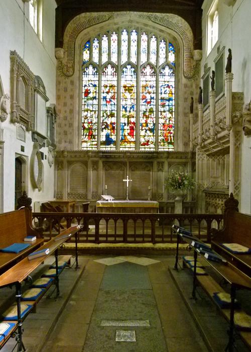 St Mary's, Ewelme, chancel, east window