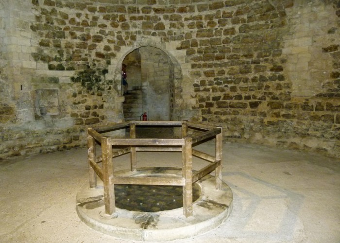 Orford Castle, basement, castle well