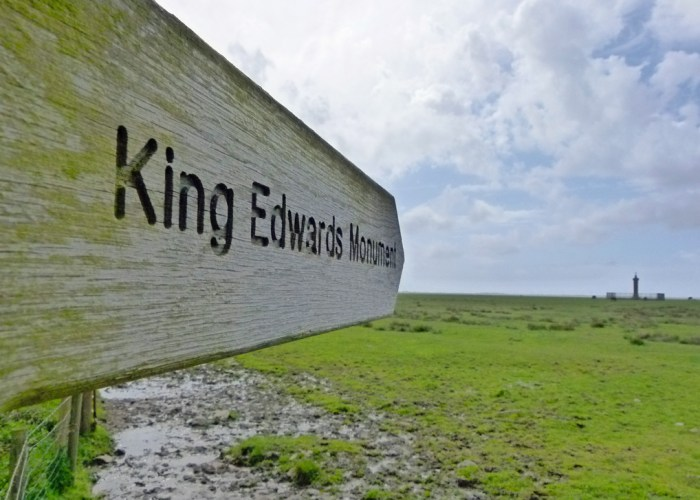Edward I, memorial, Solway Firth, Cumbria