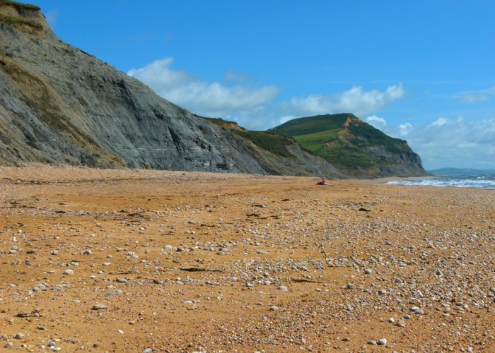 Golden Cap, beach, Jurassic coast, near Charmouth, Dorset