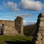 Ruins, Chapel, Heysham, stone graves