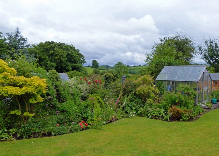 Open gardens, Burton in Lonsdale, views of Yorkshire
