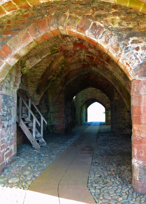 Brougham Castle, vaulted ceiling, castles in Cumbria