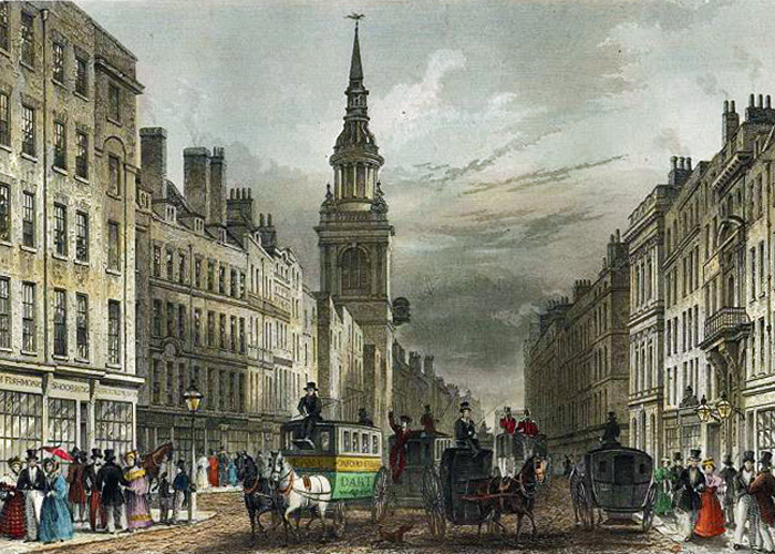 Cheapside, St Mary le Bow, Victorian London