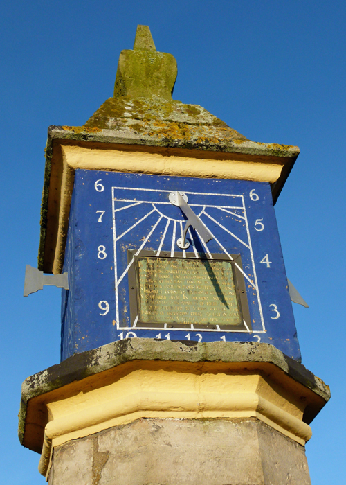 Countess Pillar, dedication, sundials