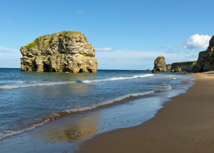 Marsden Bay, Marsden Rock, views of North East England