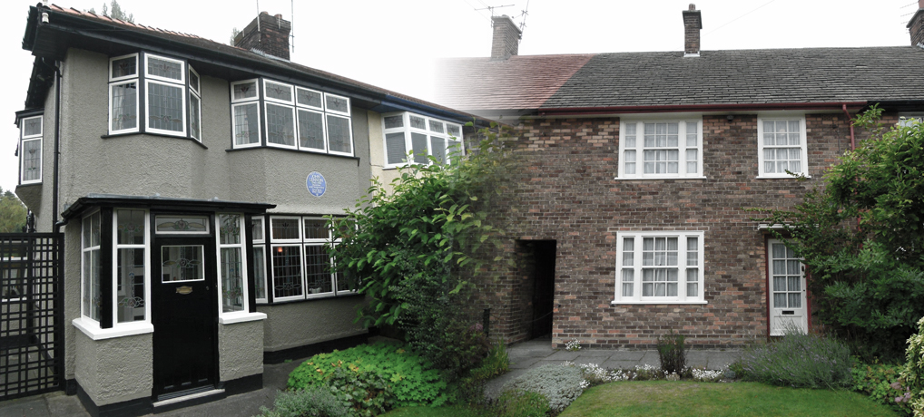 Lennon and McCartney's childhood homes