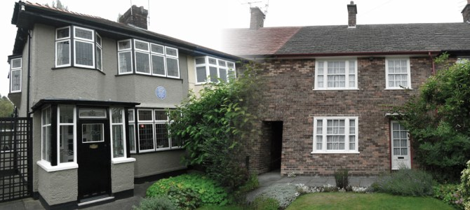 Lennon and McCartney's childhood homes