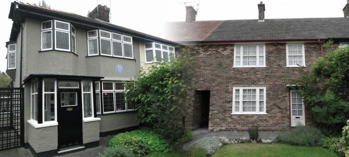 Lennon, McCartney, childhood homes, Liverpool, Mendips, Menlove Avenue, 20 Forthlin Road