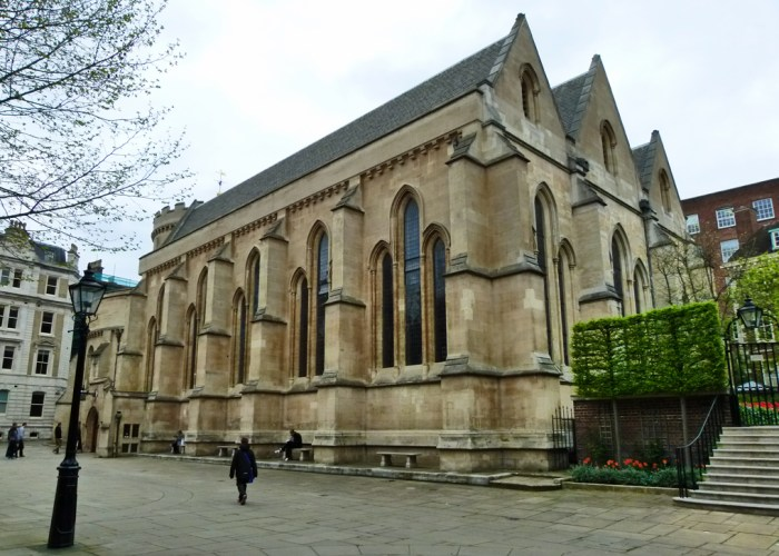 Temple church, three bay chancel, Middle Temple