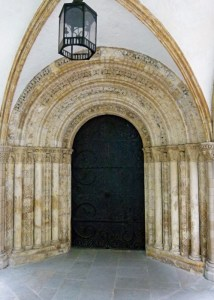 Temple Church, doorway, round church