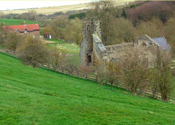 Wharram Percy, St Martin's, church, deserted village, Yorkshire