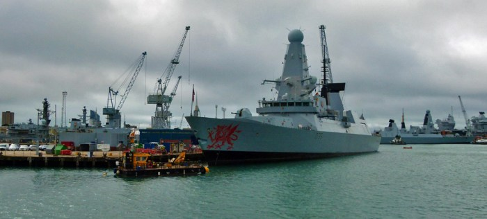 HMS Dragon, D35, destroyers, Royal Navy, Portsmouth