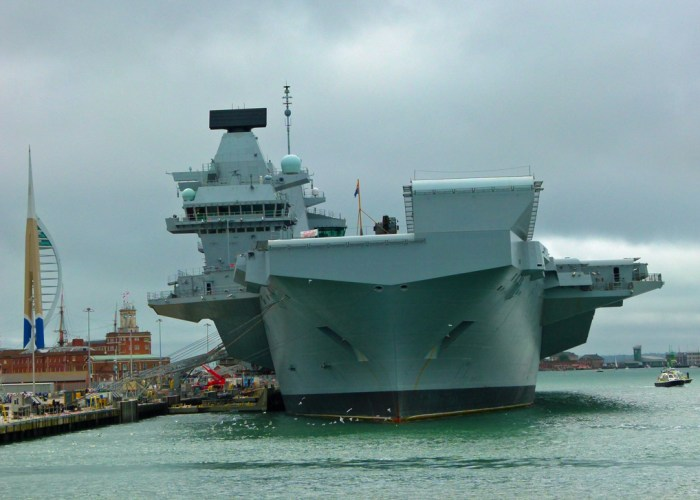 HMS Queen Elizabeth, Portsmouth Harbour Tour