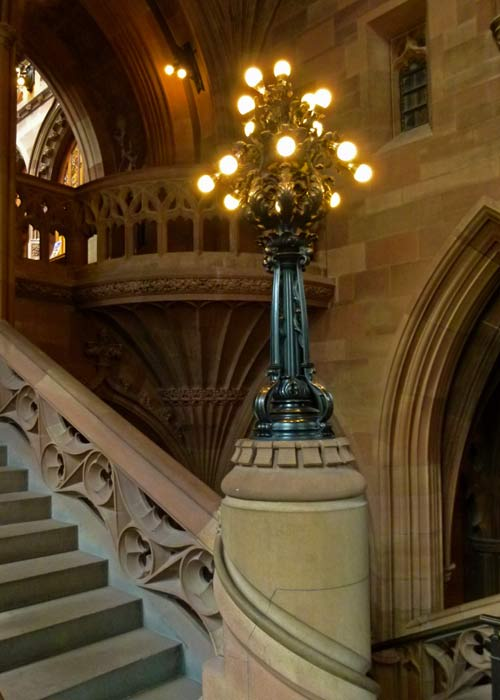 John Rylands Library, staircase